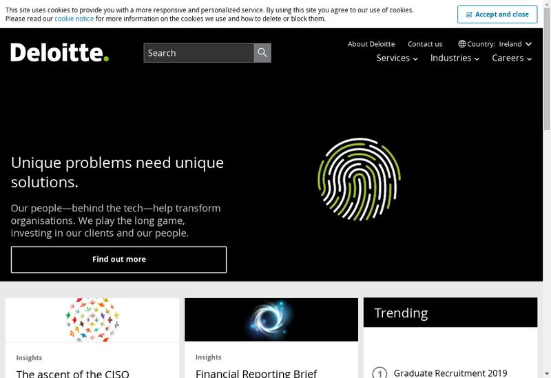 Capture d'écran du site de Deloitte Accounting Services