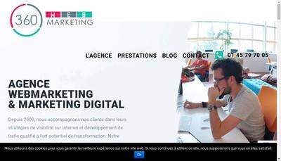 Site internet de 360 Webmarketing