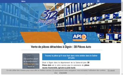 Site internet de SARL 3B Pieces Auto