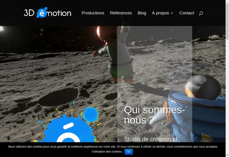 Capture d'écran du site de 3D Emotion