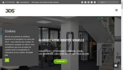 Site internet de 3DS Groupe