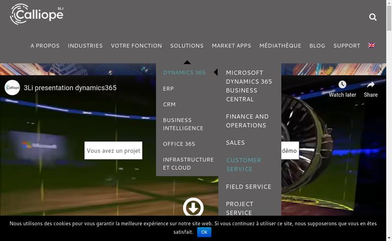 Capture d'écran du site de 3LI Business Solutions