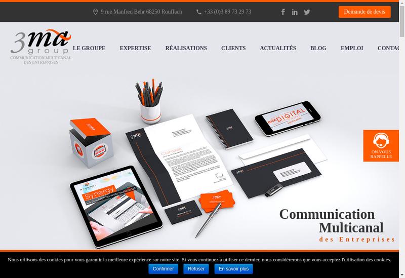 Capture d'écran du site de L'Europeenne d'Envois