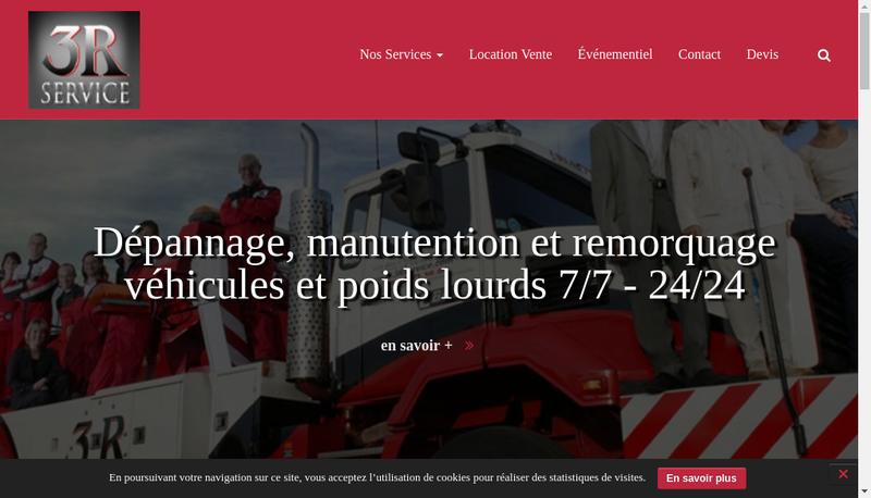 Capture d'écran du site de Les 3R