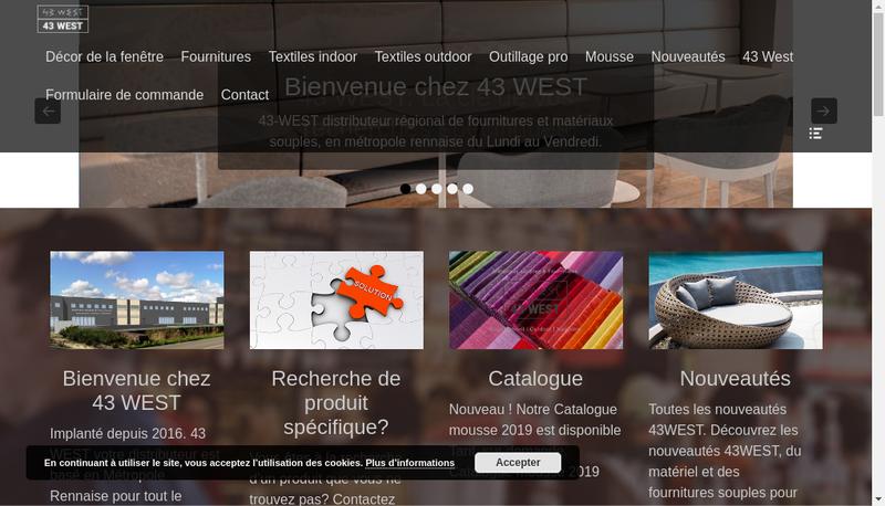 Capture d'écran du site de 43 West