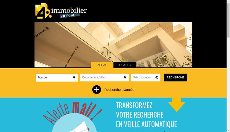 Capture d'écran du site de Agence du Bronze
