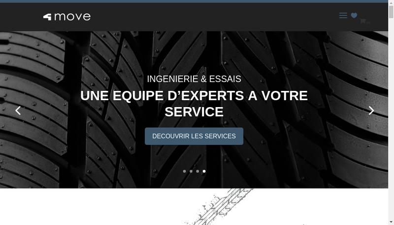 Capture d'écran du site de 4Move Consulting