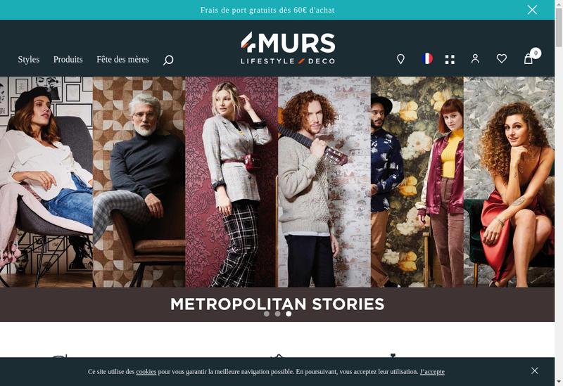 Capture d'écran du site de 4Murs