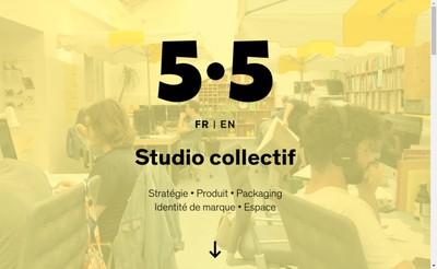 Site internet de 5 5 Designers