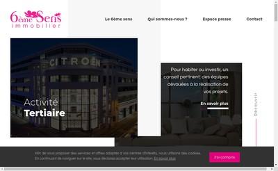 Site internet de 6Eme Sens Immobilier - Paris
