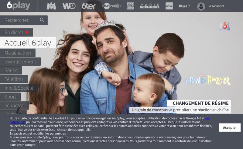 Capture d'écran du site de Paris Premiere