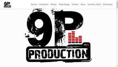 Site internet de 9P Production