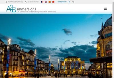 Site internet de A2B Immersions