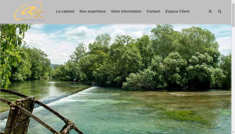 Capture d'écran du site de A2C Entreprises