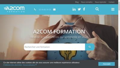 Site internet de A2Com Formation