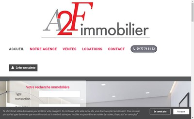 Site internet de Orpi A2F Immobilier