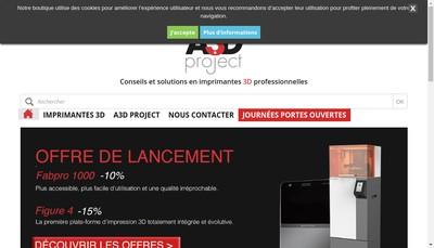 Site internet de A3D Project