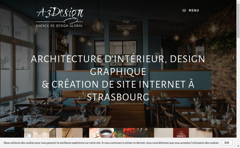 Capture d'écran du site de A3 Design