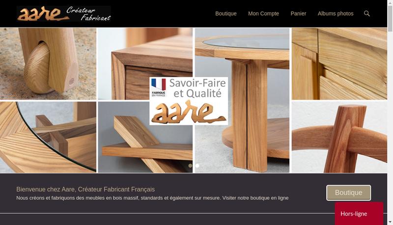 Capture d'écran du site de AARE