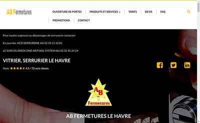 Site internet de AB Fermetures Le Havre