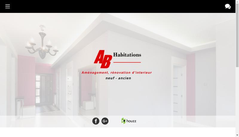 Capture d'écran du site de Ab Habitations