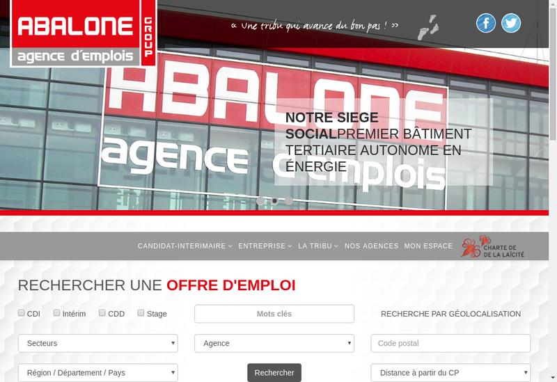 Capture d'écran du site de Abalone France
