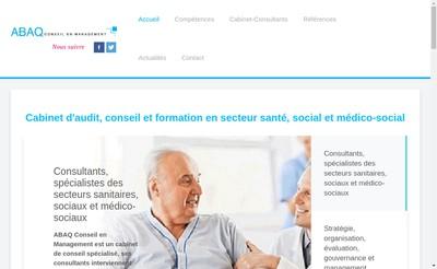 Site internet de Abaq Conseil en Management