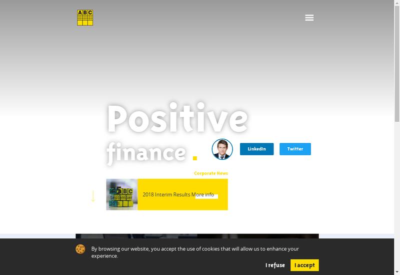 Capture d'écran du site de Abc Arbitrage Asset Management