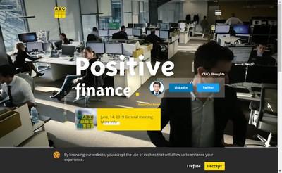 Site internet de Abc Arbitrage Asset Management