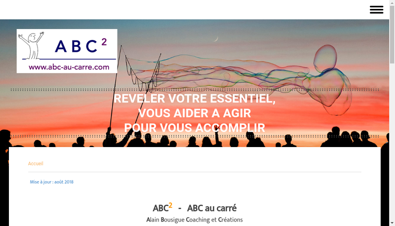 Capture d'écran du site de ABC2