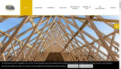 Capture d'écran du site de Abc Toiture