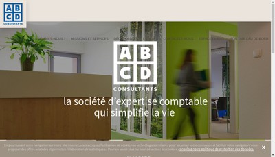 Site internet de Abcd Consultants
