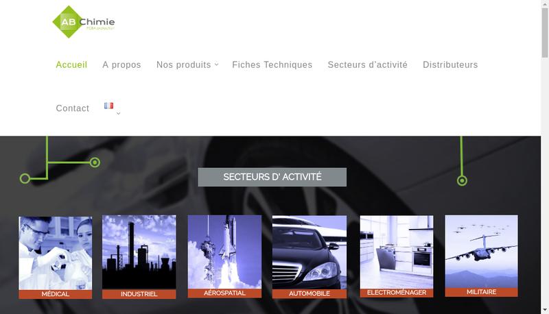 Capture d'écran du site de Abchimie