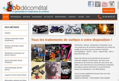 Site internet de Ab Decometal
