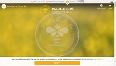 Site internet de L'Abeille de Re