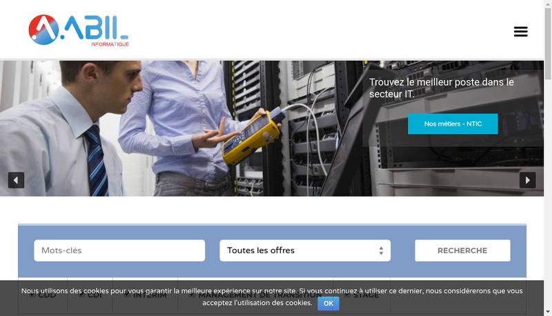 Capture d'écran du site de Abil Interim