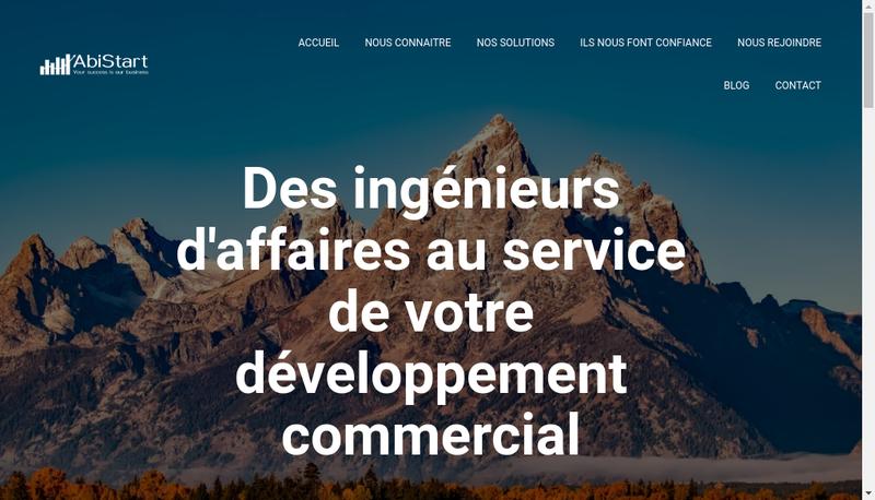 Capture d'écran du site de Abistart