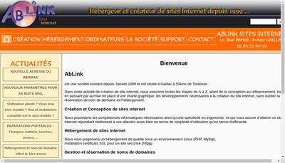 Site internet de Ablink