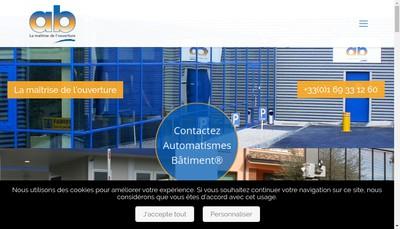 Site internet de Automatismes Batiment
