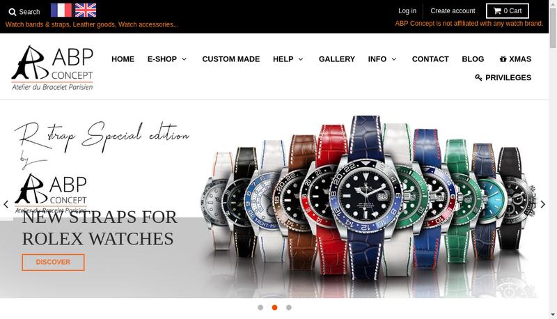 Capture d'écran du site de Atelier du Bracelet Parisien