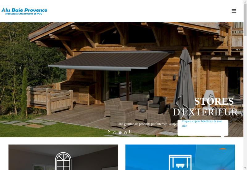 Capture d'écran du site de Alu Baie Provence