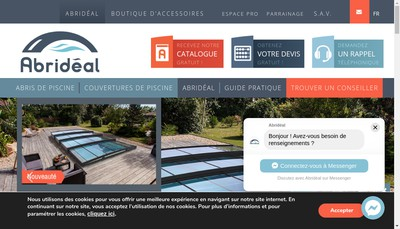 Site internet de Abrideal - Facilabri