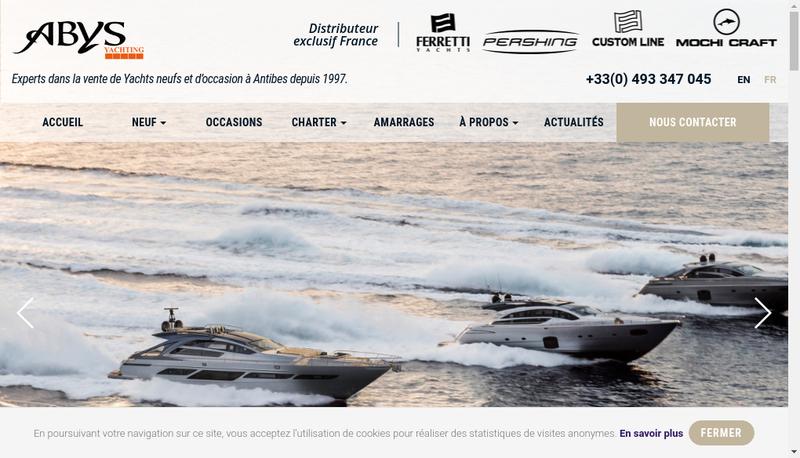 Capture d'écran du site de Abys-Paul Nautic-Prom'Nautic