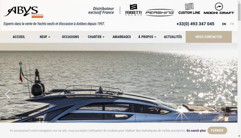 Capture d'écran du site de Abys