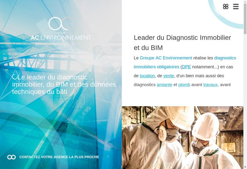 Capture d'écran du site de Ac Environnement