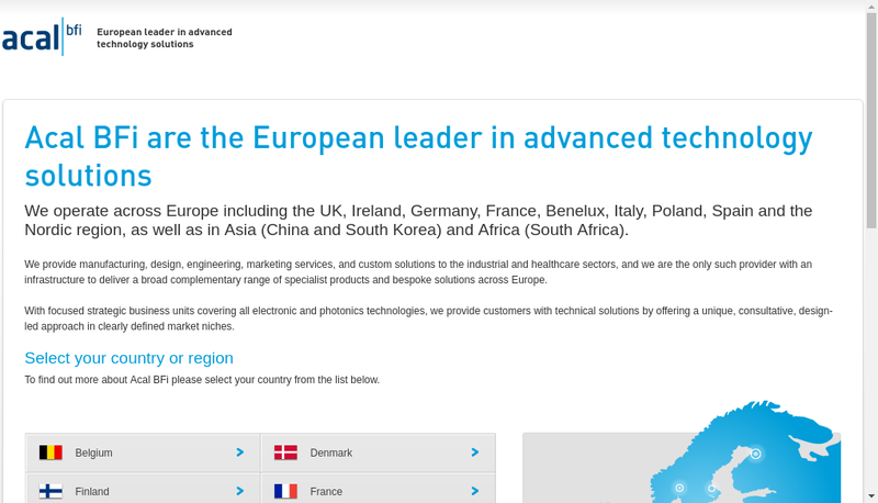 Capture d'écran du site de Bfi Optilas