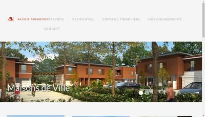 Site internet de Accelis Promotion