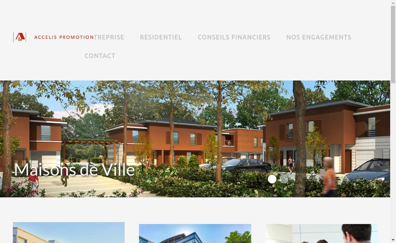 Capture d'écran du site de Accelis Immo