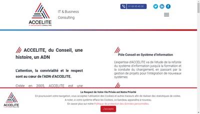Site internet de Accelite