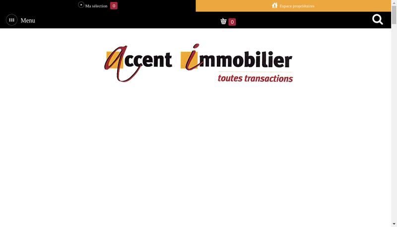 Capture d'écran du site de Accent Immobilier